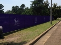 6 foot fence with logo screening all top of the line custom