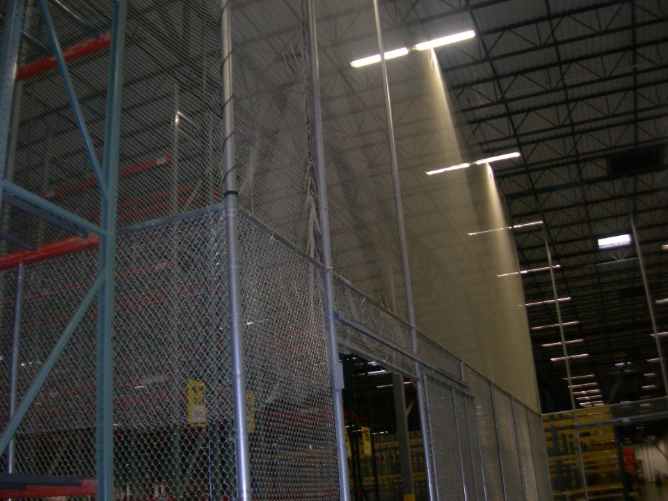 high security interior cage with netting to the ceiling