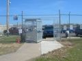 Turnstiles for controlling personnel traffic. Automated with card reader access control