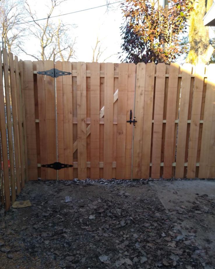 woodence fence door