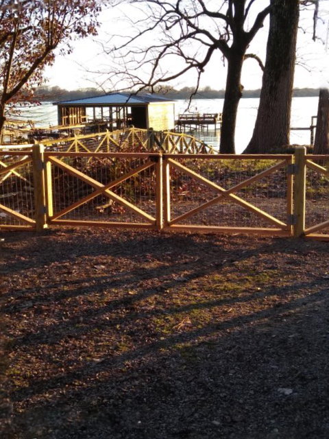 fence at the sunset